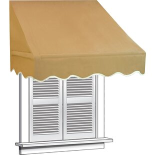 4 ft. W x 2 ft. D Window Awning by ALEKO