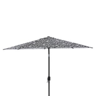 Pillow Perfect Essence Onyx 9' Market Umbrella