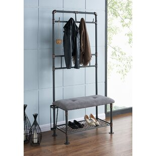 Nowell Metal Hallway Storage Bench by Williston Forge