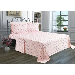 3 Piece Floral Sheet Set