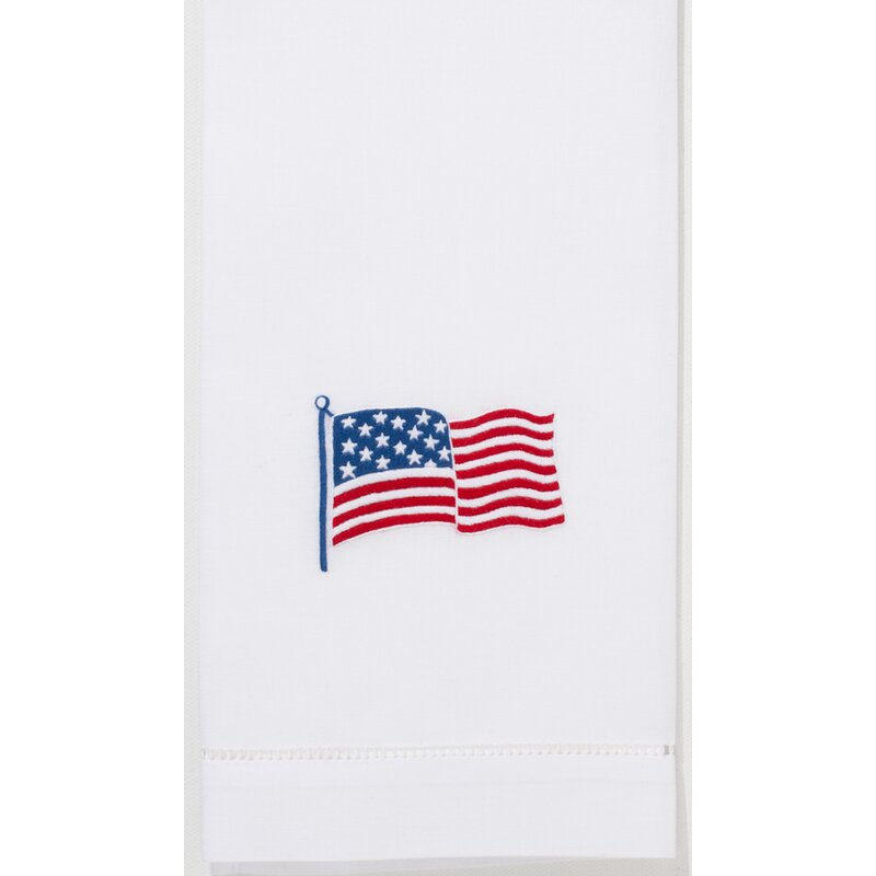 Charlton Home Bayport Stars And Stripes Embroidered 100 Cotton Hand Towel Wayfair