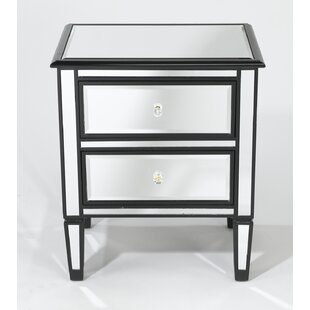 Daphine Trim Mirrored 2 Drawer Chest