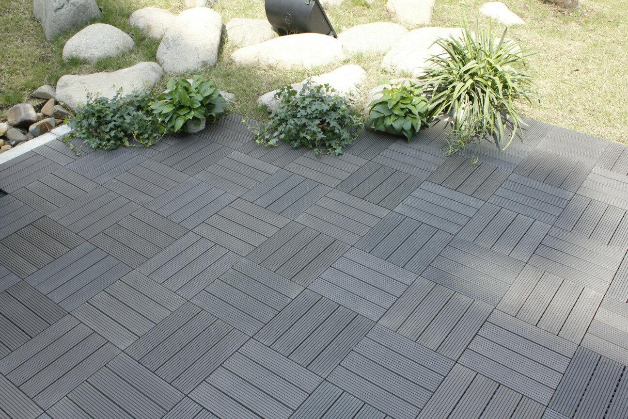 Naturesort Bamboo Composite 12 X Deck Tiles In Grey Reviews Wayfair