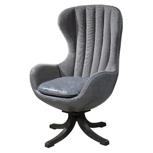 Stamford Swivel Wingback Chair by Everly Quinn
