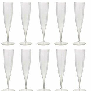 Plastic 230ml Champagne Set (Set Of 10) By Symple Stuff
