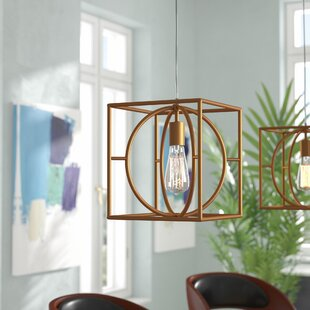 Condrey 1-Light Square Pendant by Mercury Row