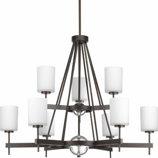 Red Barrel Studio Fairbanks 9-Light Shaded Chandelier