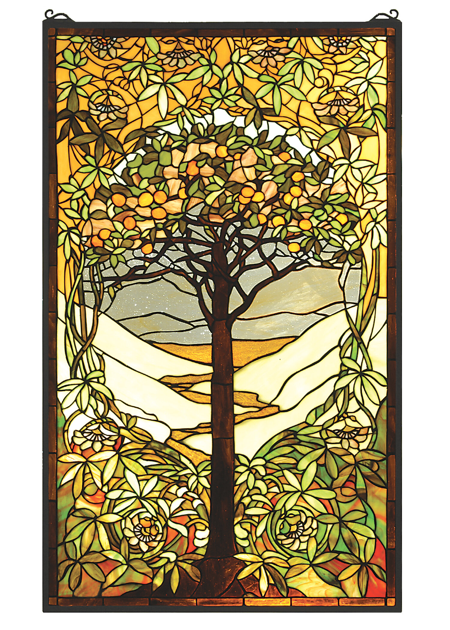 Meyda Tiffany Tiffany Tree of Life Stained Glass Window | Wayfair