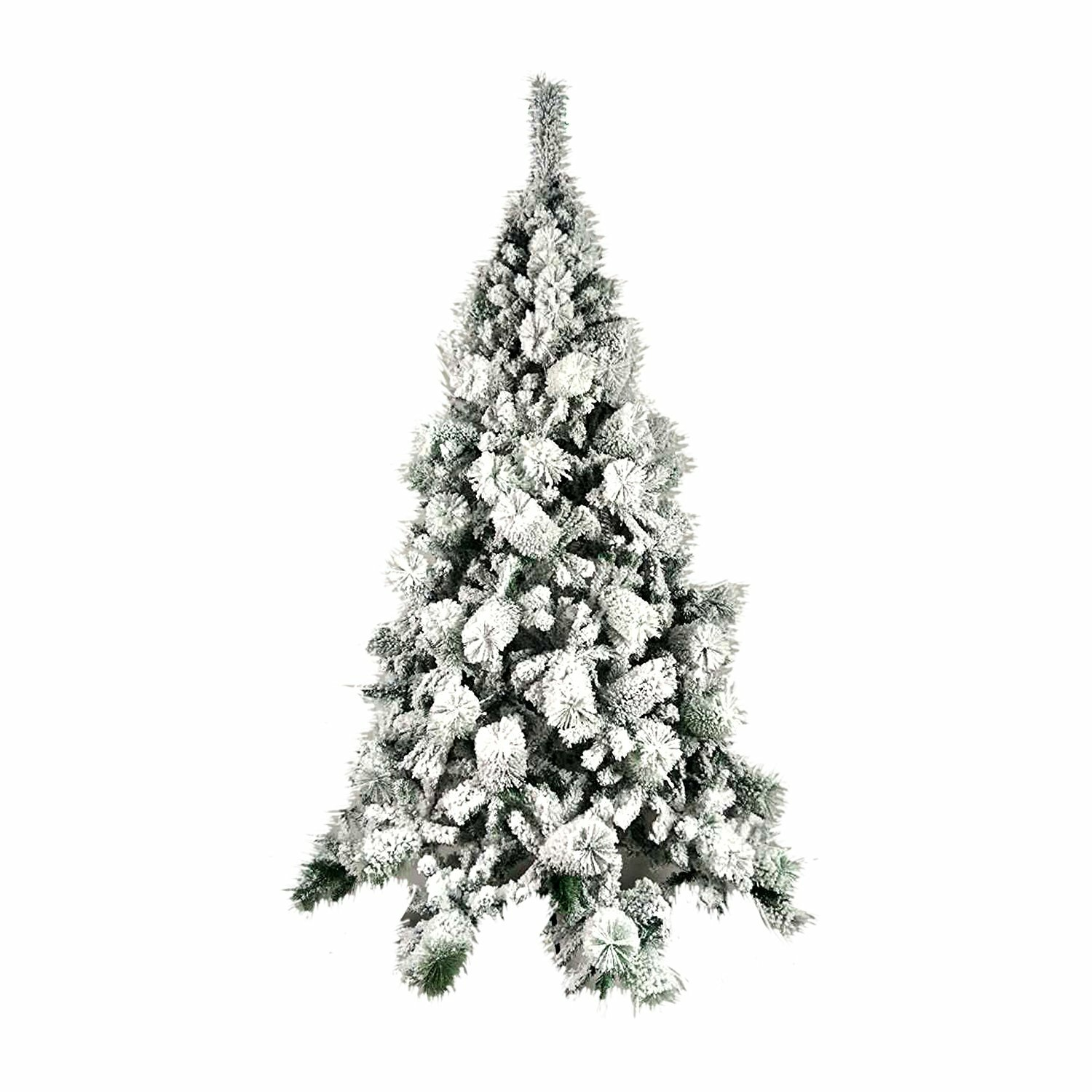 Green Christmas Tree With White Snow Tyres2c