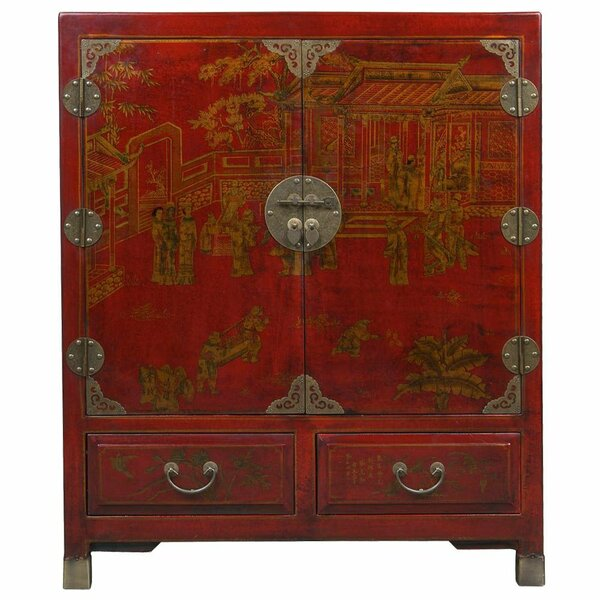 Exceptional EXP Décor Handmade Oriental Antique Style Traditional Heirloom Accent  Cabinet U0026 Reviews | Wayfair