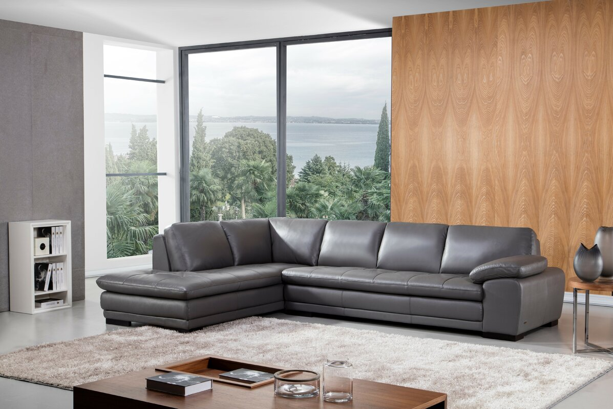 Stockbridge Leather Sectional