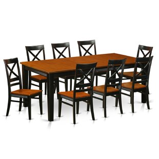Loraine 9 Piece Dining Set Red Barrel Studio