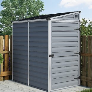 Skylight 4 Ft. W X 6 Ft. D Pent Polycarbonate Shed By Palram