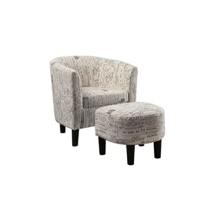 Tanay Dorris Fabric Barrel Chair and Ottoman by Ophelia & Co.