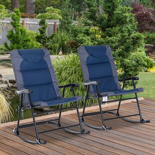 Freeport Park Schaffer Folding Camping Chair with Cushion (Set of 2)