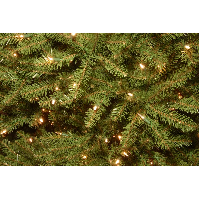Hinged 10' Green Fir Artificial Christmas Tree with 1200 Colored & White  Lights - Hinged 10' Green Fir Artificial Christmas Tree With 1200 Colored