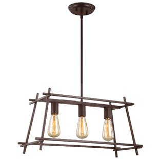 Union Rustic Miner 3-Light Kitchen Island Pendant