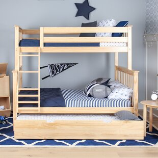 Juliann Solid Wood Bunk Bed with Trundle Bed by Harriet Bee