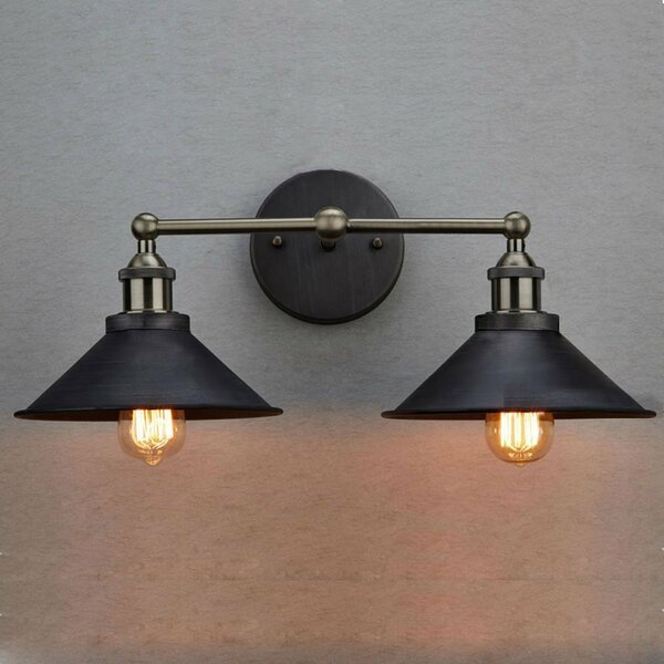 Claxy Vintage 2 Light Armed Sconce Amp Reviews Wayfair