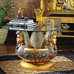 Three Heads Of Tutankhamen Sculptural Coffee Table by Design Toscano Cool