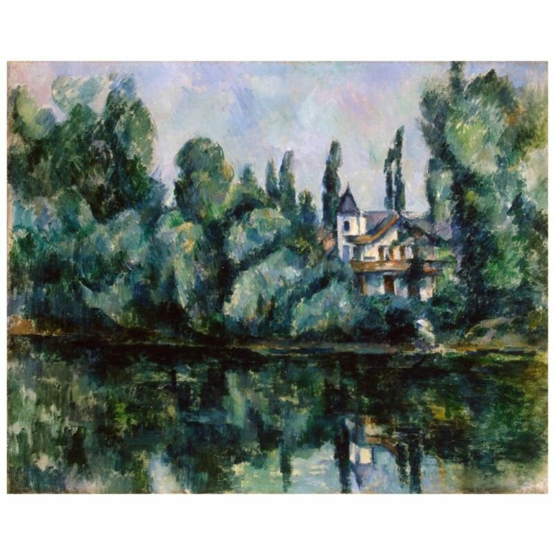Marlow Home Co The Banks Of The Marne Villa On The Bank Of A River By Paul Cezanne Wrapped Canvas Painting Print Wayfair Co Uk