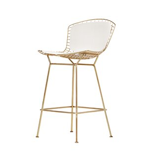 Divito Champagne 29.5 Bar Stool by Brayden Studio