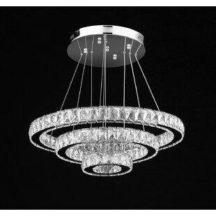 Mercer41 Lechuga 81-Light LED Crystal Chandelier
