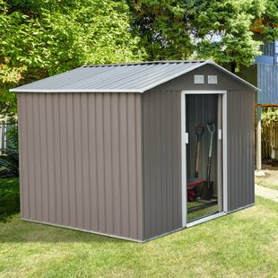 9 Ft. W X 6.5 Ft. D Metal Storage Shed By Outsunny