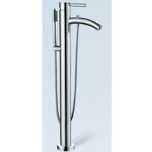 Wyndham Collection Taron Floor Mount Tub Filler Hand Shower