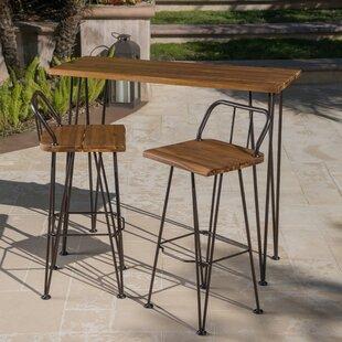 Loya Outdoor Bar Set by Union Rustic