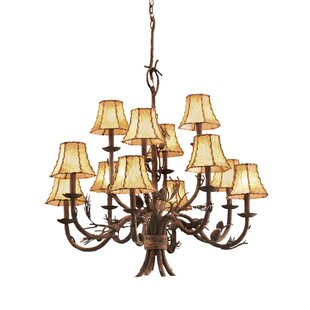 Kalco Ponderosa 12-Light Shaded Chandelier