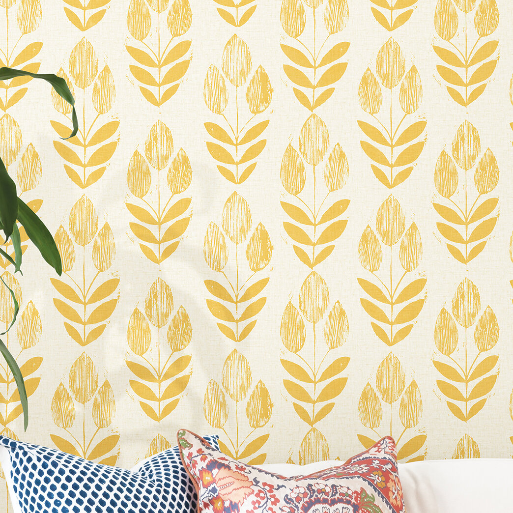 Red Yellow Wallpaper You Ll Love In 2020 Wayfair