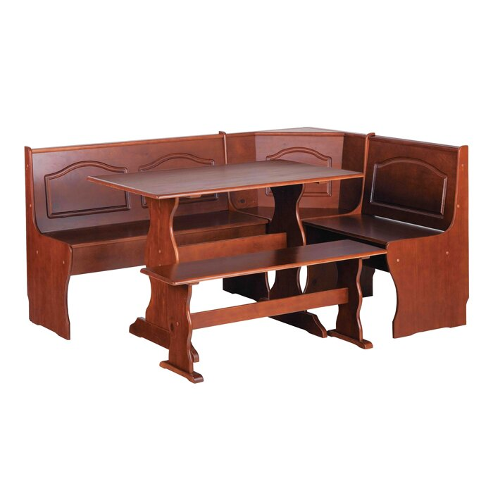 breakfast furniture. virginie 3 piece breakfast nook dining set furniture  sc 1 th 225 : 3 piece dining table set - pezcame.com