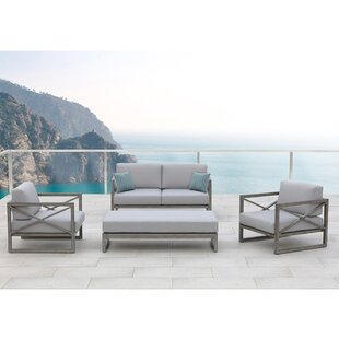 Galia 4 Piece Sofa Set with Cushions