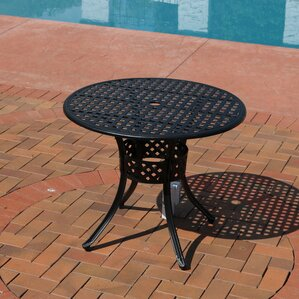 Isabelle Cast Aluminum Round Dining Table..
