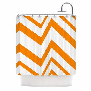 Zig Zag Single Shower Curtain by East Urban Home Read Reviews