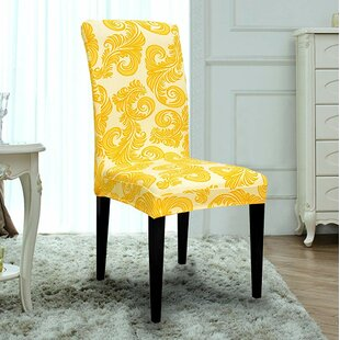 Printed Spandex Stretch Box Cushion Dining Chair Slipcover (Set of 6)
