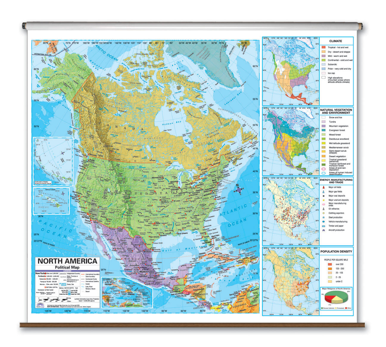 Universal Map Advanced Political Map - North America | Wayfair on letter n america, map latin america, map of america, map o america, globe n america, map n orleans, map central america, time zone america,