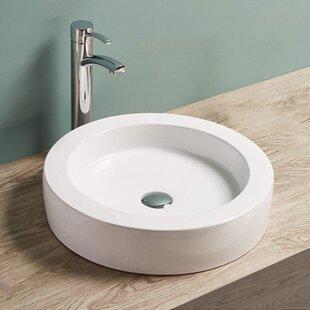 Inexpensive Ceramic Circular Vessel Bathroom Sink By Vanitesse