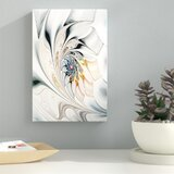 'White Stained Glass Art' Graphic Art on Canvas