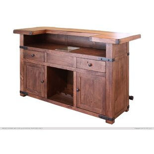 Millwood Pines Stirling Wooden Bar Top