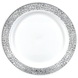 Premium Reusable Heavyweight Plastic Dinner Plate (Set of 288)  sc 1 st  Wayfair & Reusable Plastic Plates | Wayfair