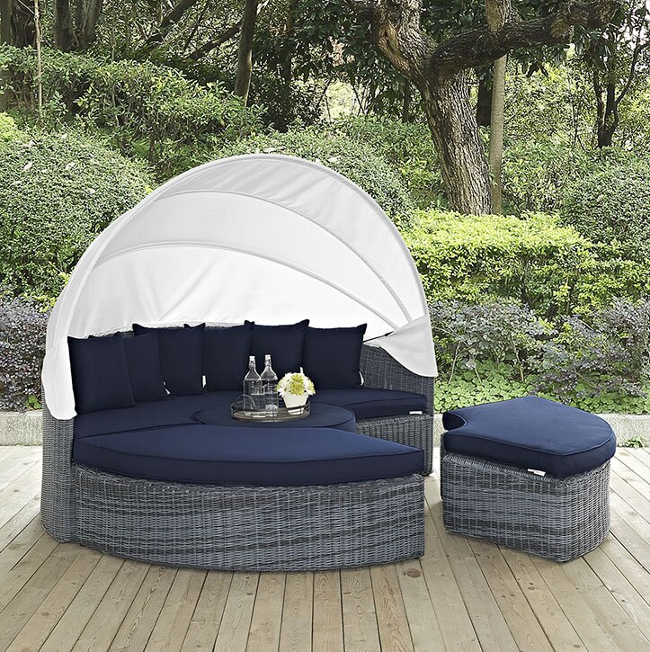 Keiran Patio Daybed with Sunbrella Cushions