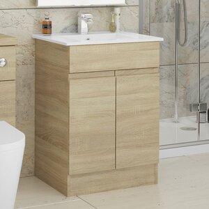 BeModern Bathrooms 61 cm Wandmontierter Waschtisch mit Schrank Ottawa