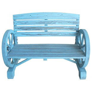 Blaise Wagon Wheel Wooden Garden Bench