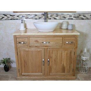 Joshua Solid Oak 1000mm Free-Standing Vanity Unit By Belfry Bathroom