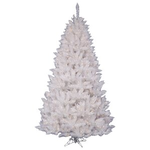 white spruce 45 artificial christmas tree with 180 led white lights - Christmas Tree White