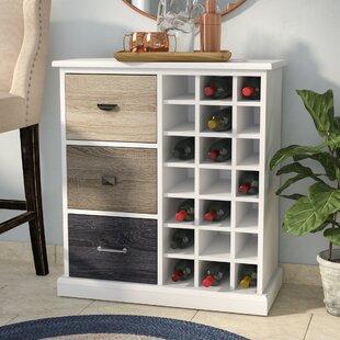 Snowy Mountain 21 Bottle Floor Wine Cabinet by Red Barrel Studio