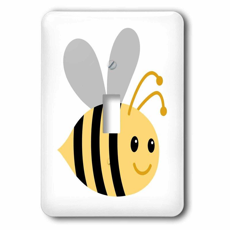 3drose Cute Cartoon Bumble Bee 1 Gang Toggle Light Switch Wall Plate Wayfair