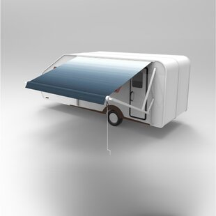 Vinyl RV Patio Awning 15ft. W x 8ft. D Retractable Fabric by ALEKO